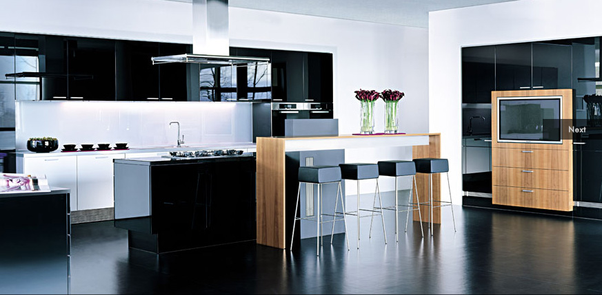 Black Modern Kitchen Design