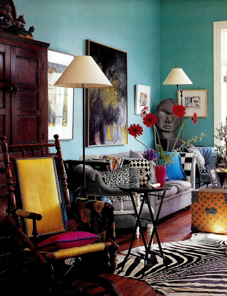 Boho-Eclectic-Living-Room