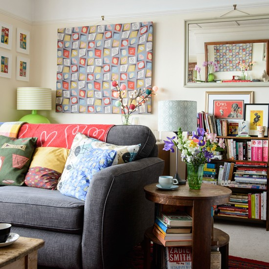 Cosy eclectic living room