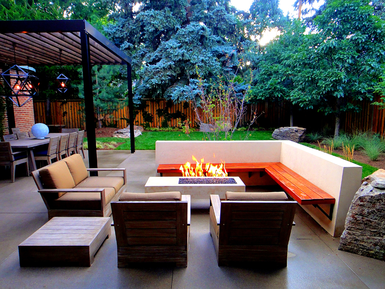 21 amazing outdoor fire pit design ideas for Outdoor modern fire pit