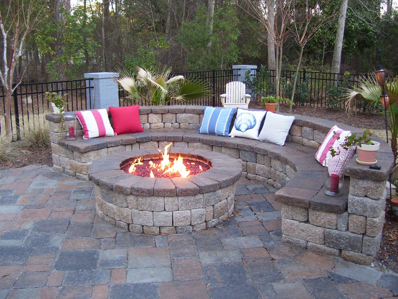Outdoor Fire Pit Installation Gallery