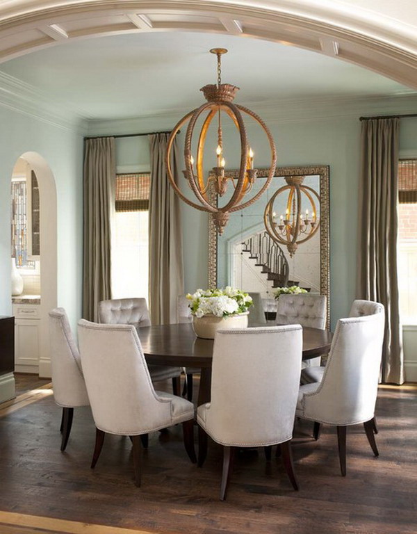 Round-Dining-Room-Furniture-Set-within-Contemporary-Style