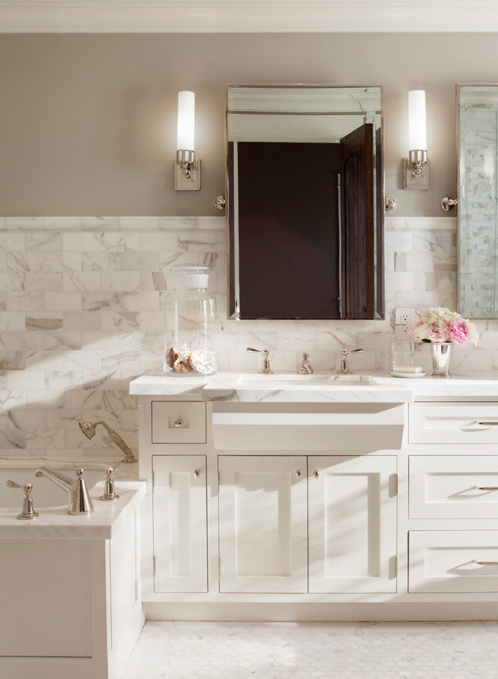 25 marvelous traditional bathroom designs for your inspiration for Bathroom decor inspiration