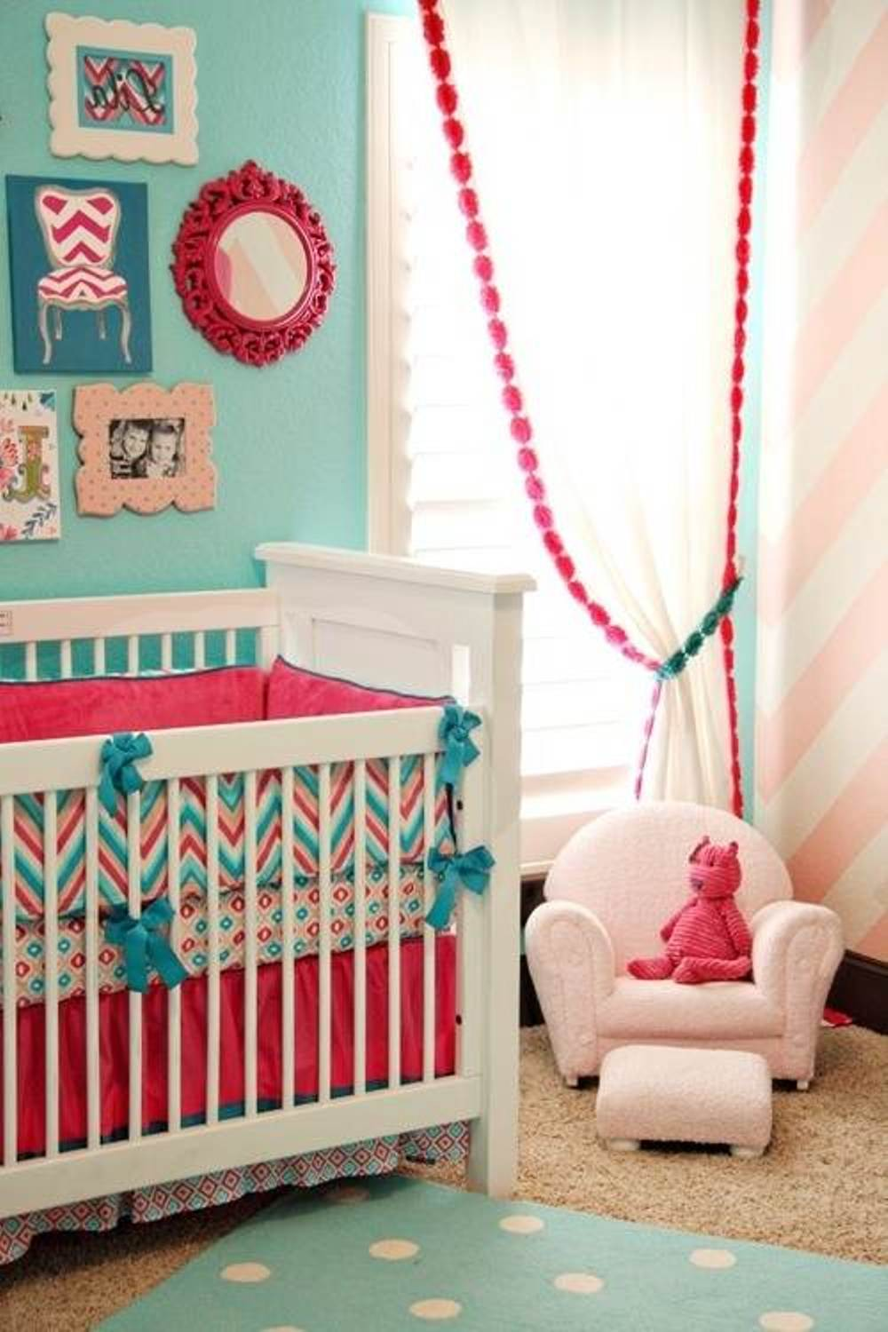 25 baby bedroom design ideas for your cutie pie for Baby girl room decoration ideas