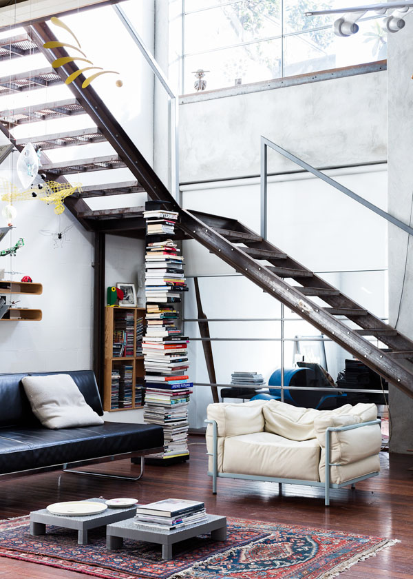 compact-house-interior-design-stacked-book-modern-stair-window-design