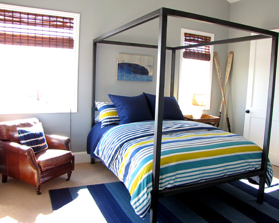 elegant-cool-bed-frames-in-beach-style-kids-with-blue-carpet-brown-sofa-matching-pillows-and-desk-lamp