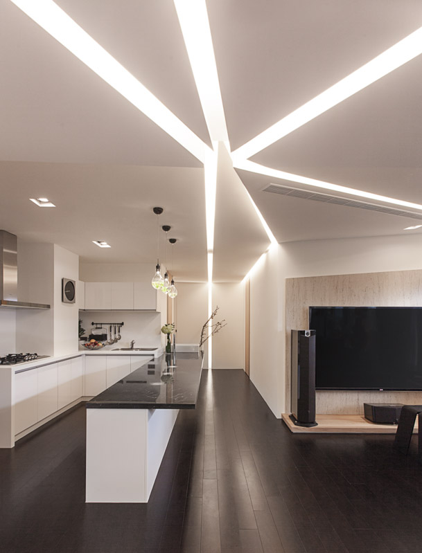 25 ultra modern ceiling design ideas you must like for Modern kitchen lighting design