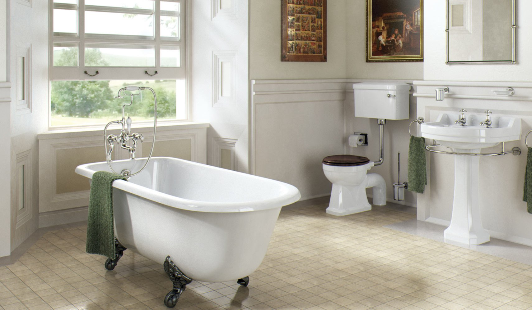 25 marvelous traditional bathroom designs for your inspiration for Bathroom ideas edwardian