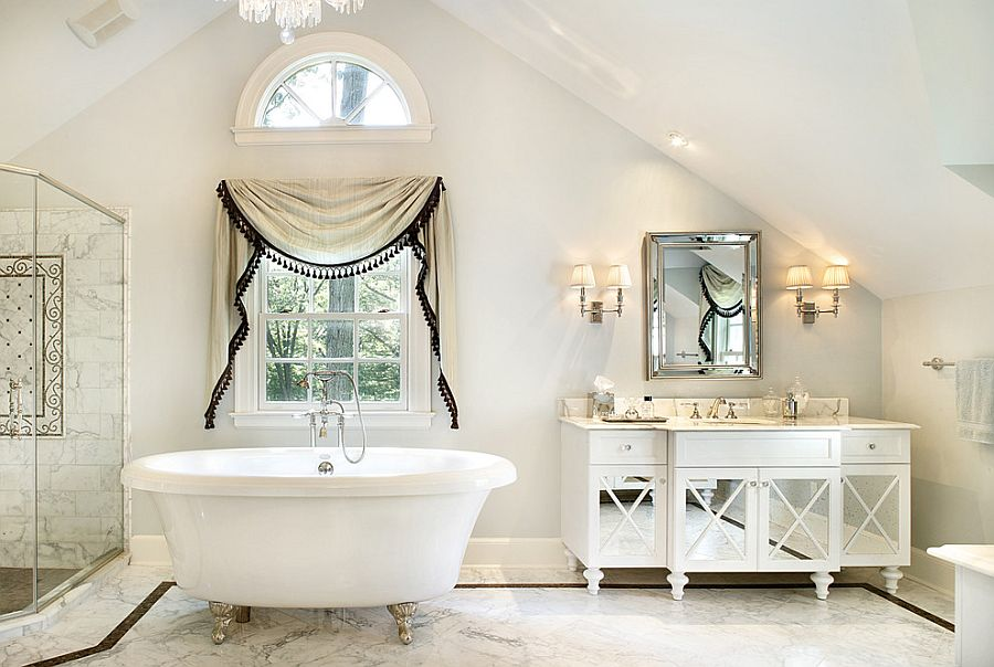 25 stunning shabby chic bathroom design inspiration. Black Bedroom Furniture Sets. Home Design Ideas