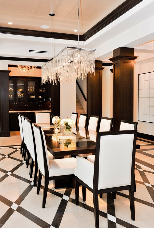 30 amazing crystal chandeliers ideas for your home - Contemporary chandelier for dining room ...