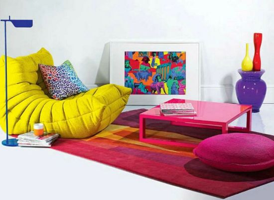 Colourful-low-seating-idea-for-living-room