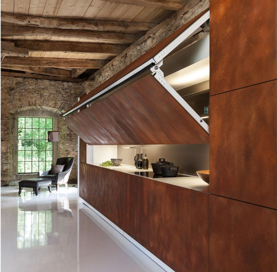 Cool Hidden Kitchen By Warendorf