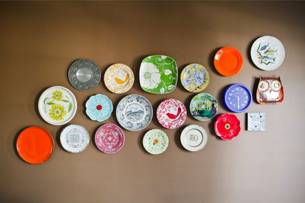 DIY-wall-art-with-Plates