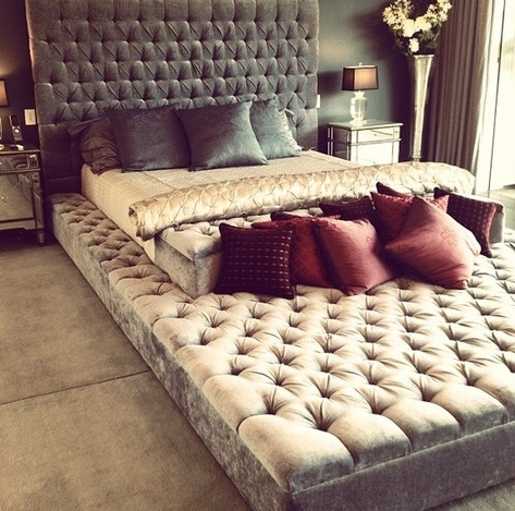 Gigantic upholstered platform bed