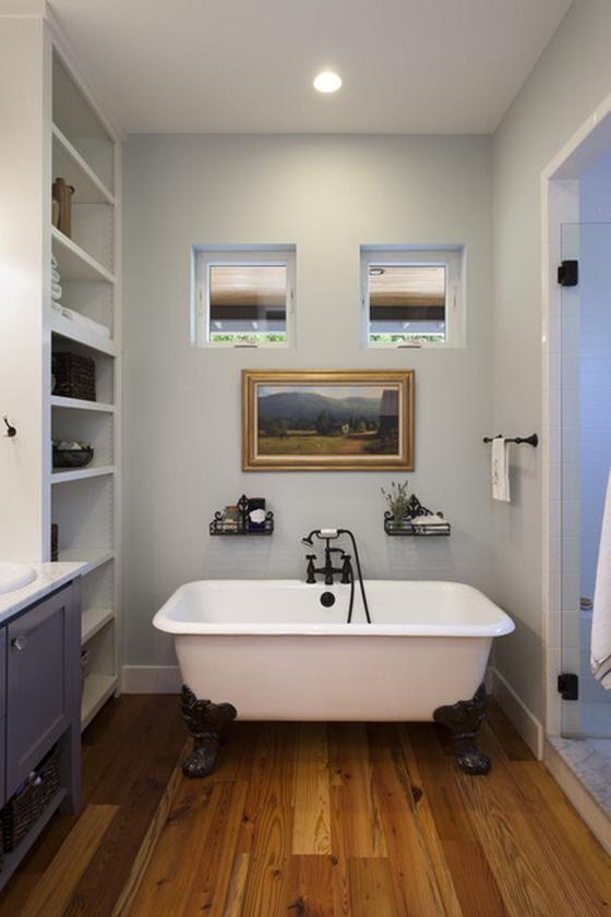Luxury-Small-Tub-in-Simple-Bathroom