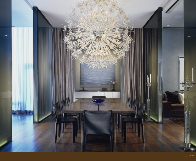 30 amazing crystal chandeliers ideas for your home for Beautiful modern dining rooms