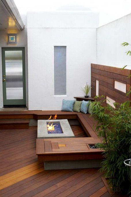 Modern Garden Patio Fence Exterior Design
