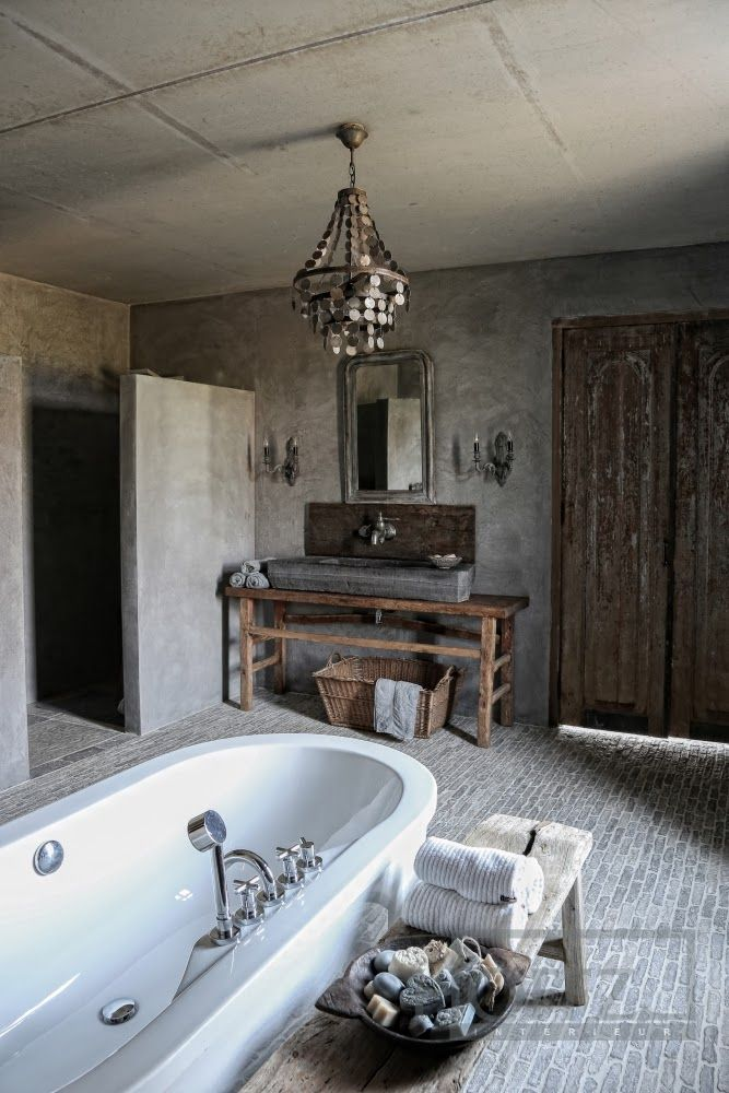 25 fantastic farmhouse bathroom design ideas pictures for Rustic farmhouse bathroom ideas
