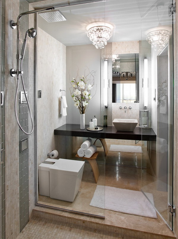 25 small but luxury bathroom design ideas for Really small bathroom