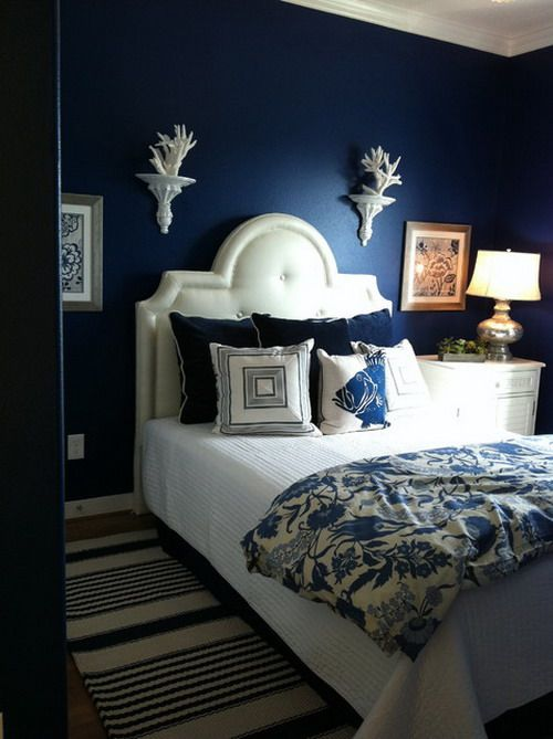 Royal Blue Bedroom