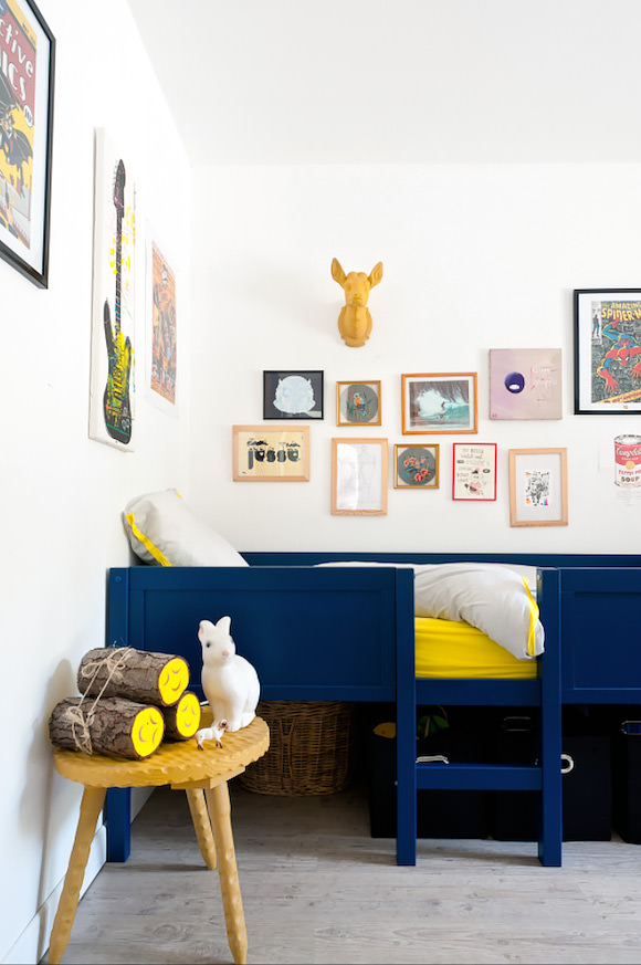 Smart & Sophisticated Kid's Room with Splashes of Color