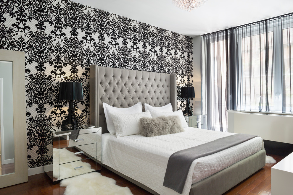 Stupendous Damask Wallpaper Design Ideas For Fine Bedroom