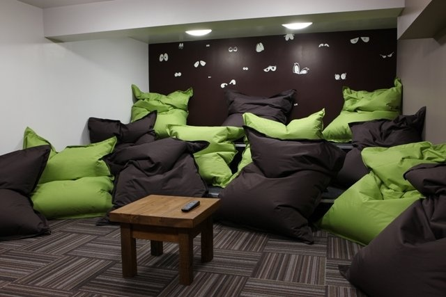 The bean bag room
