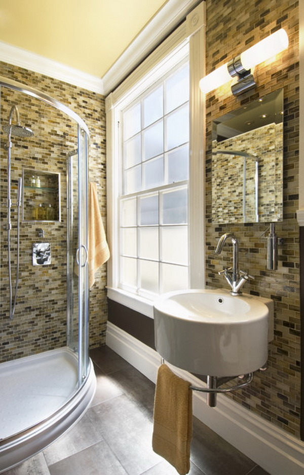 25 small but luxury bathroom design ideas for Tiny bath ideas