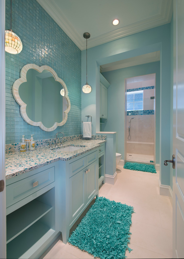 25 beach inspired bathroom design ideas for Bathroom ideas light blue