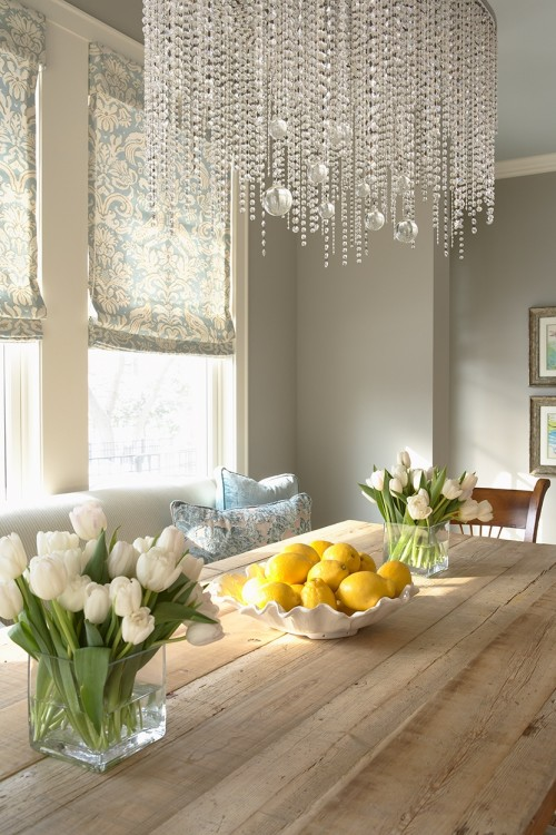 Crystal Chandelier Ideas On Eclectic Dining Room