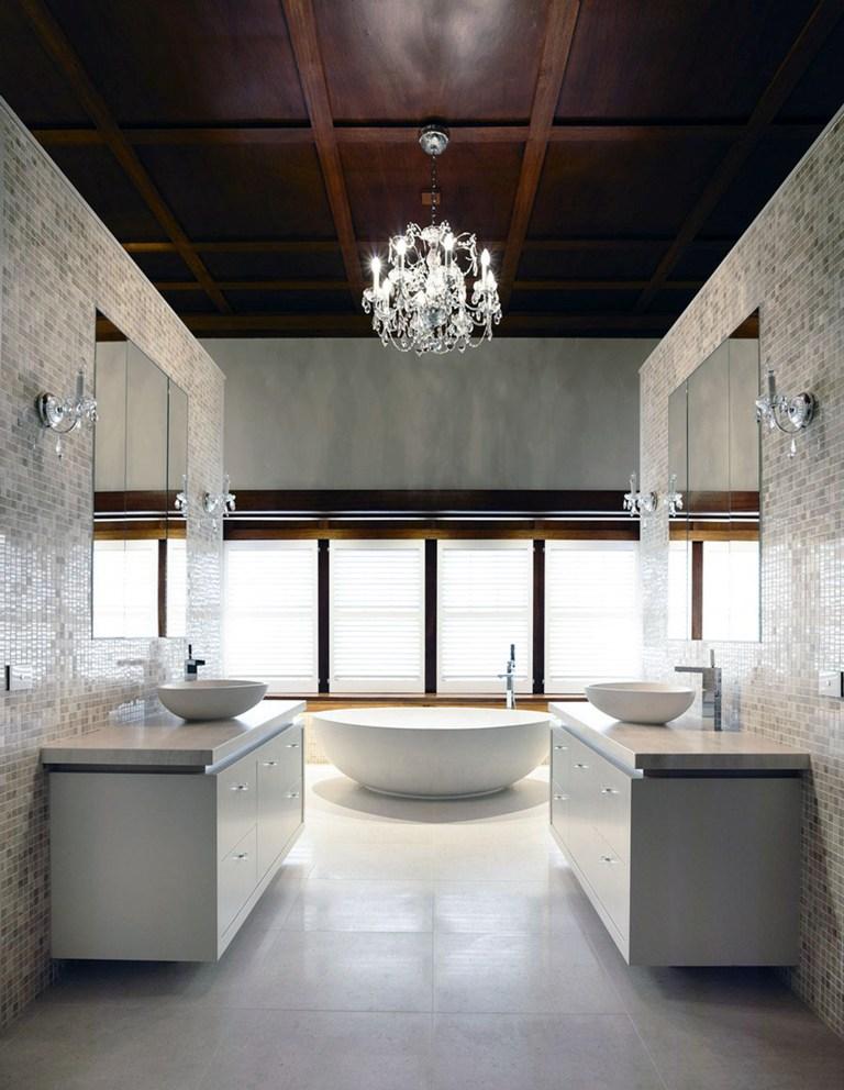 25 small but luxury bathroom design ideas for Ceiling designs for bathroom