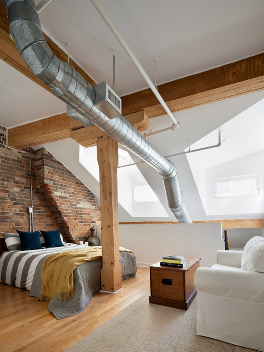 25 industrial bedroom interior designs for elegant bedroom for Modern loft bedroom