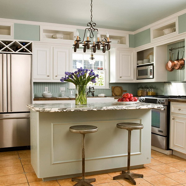 30 amazing kitchen island ideas for your home for Small kitchen designs 2015