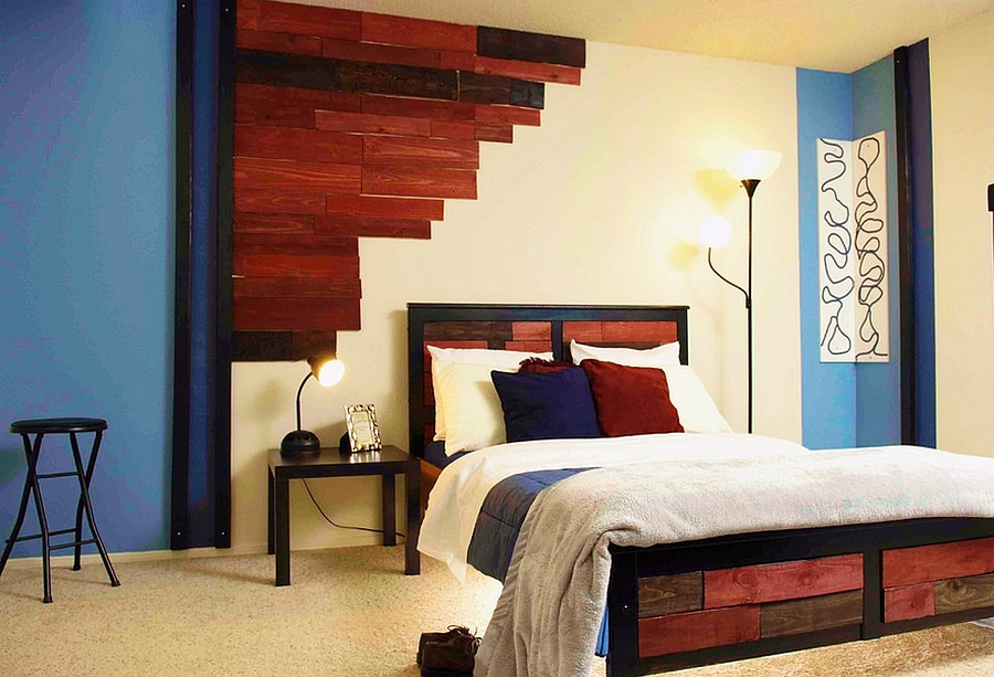 master-bedroom-wall-decorating-ideas-wooden-headboard
