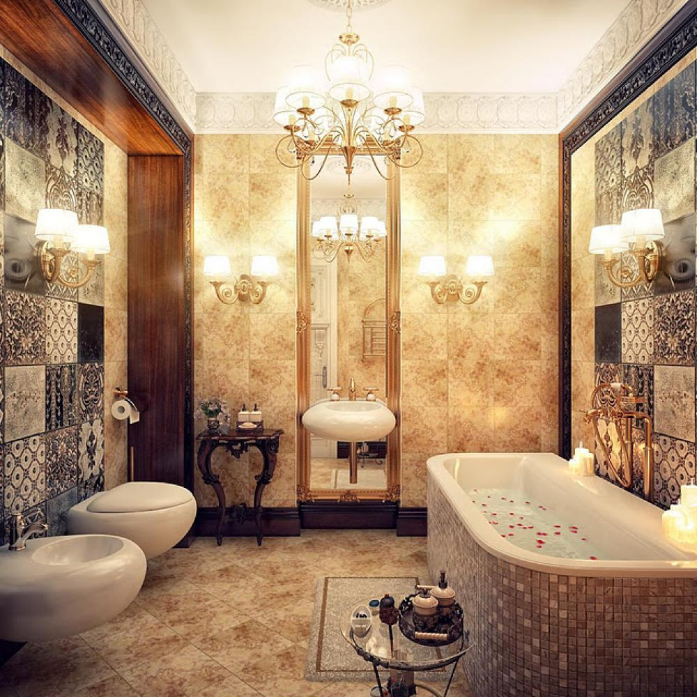 25 luxurious bathroom design ideas to copy right now for Modern classic decor