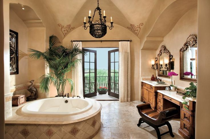 21 luxury mediterranean bathroom design ideas for Spanish style bathroom