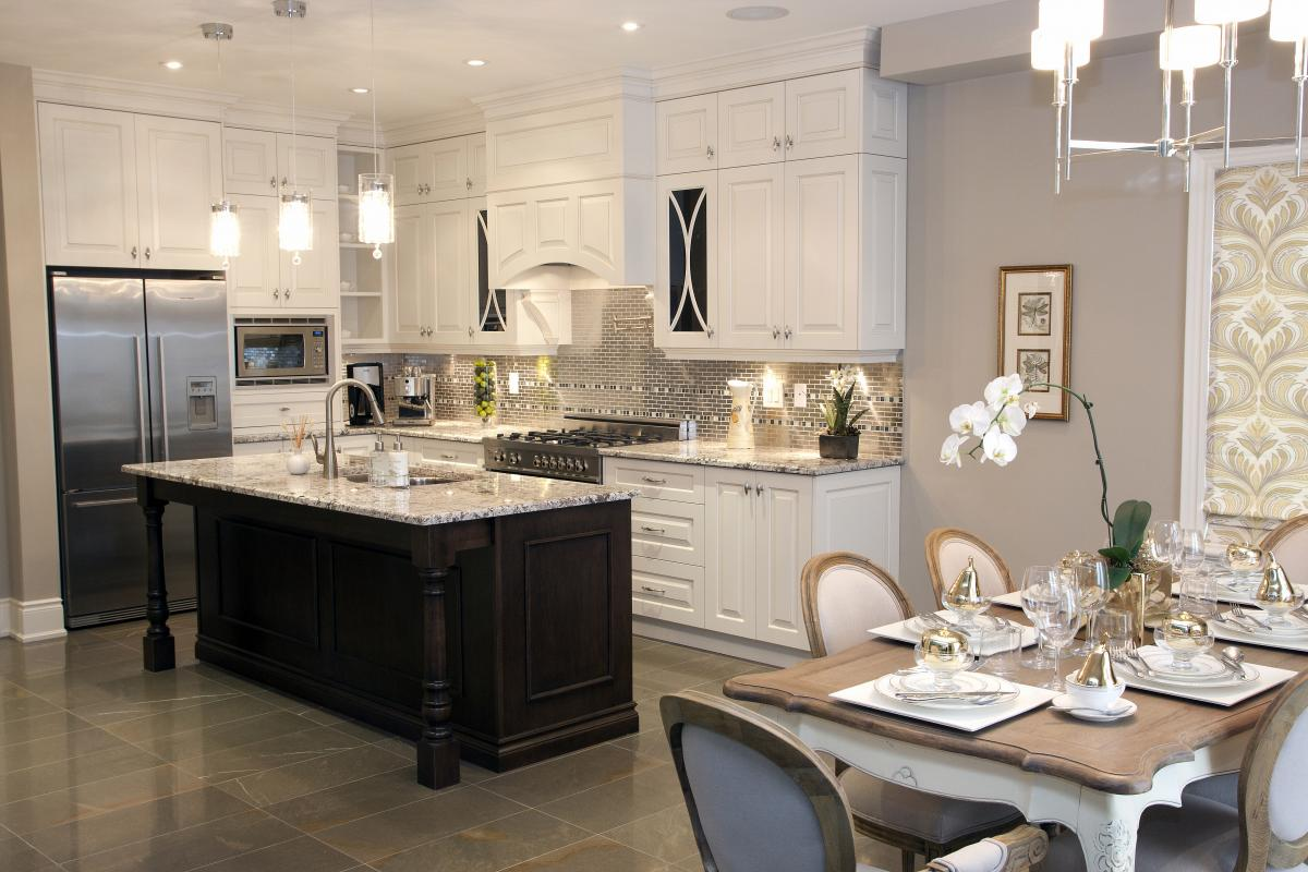 Kitchen Island Decorating 35 Beautiful Transitional Kitchen Examples For Your