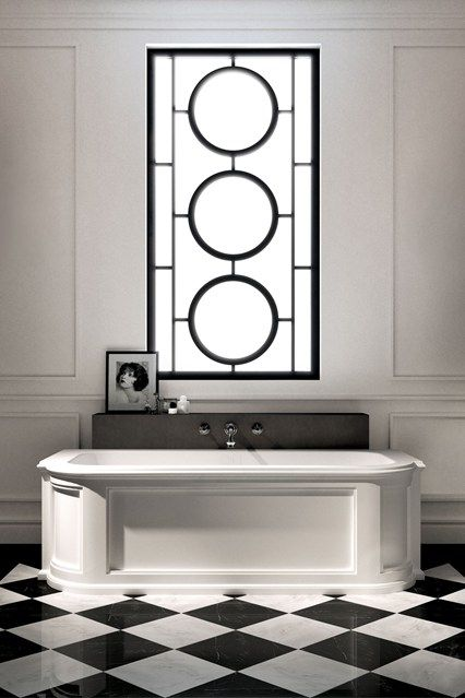 Art Deco Bathroom with Monochrome Colour Palette