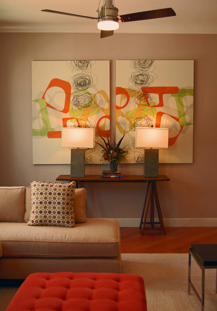 25 creative canvas wall art ideas for living room for Cheap artwork ideas