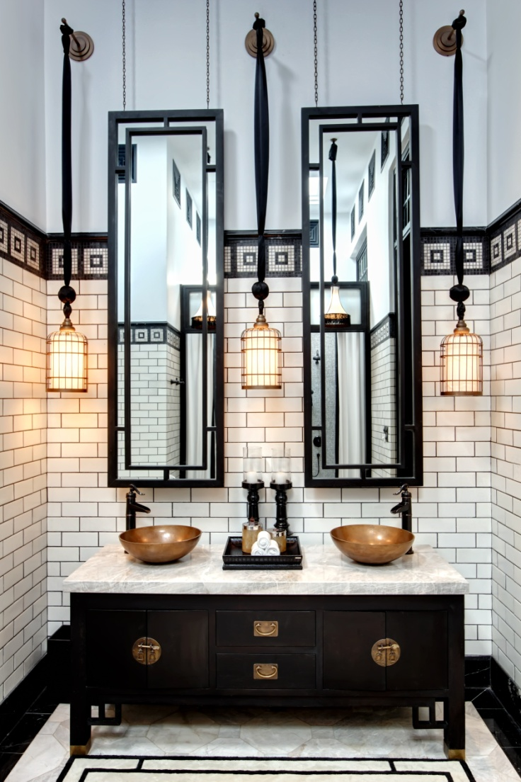 20 stunning art deco style bathroom design ideas for Black and cream bathroom ideas