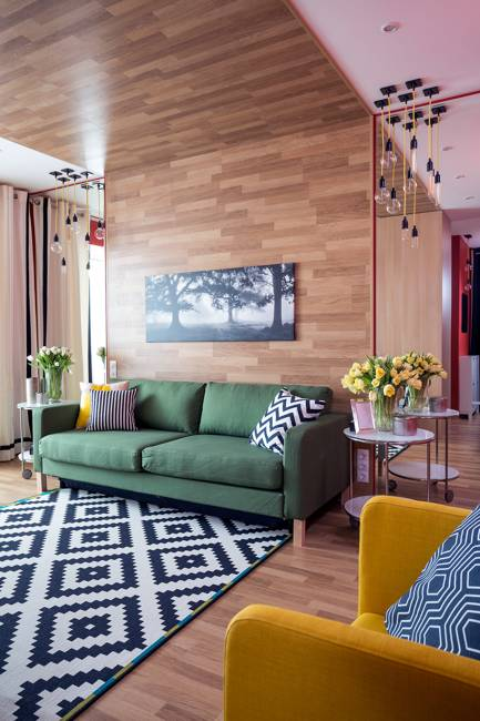 27 gorgeous modern living room designs for your inspiration for Bright coloured living room ideas