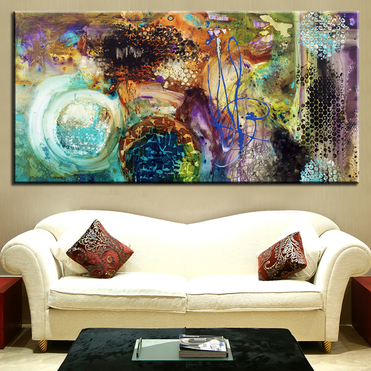 25 creative canvas wall art ideas for living room for Ideas for painting my living room