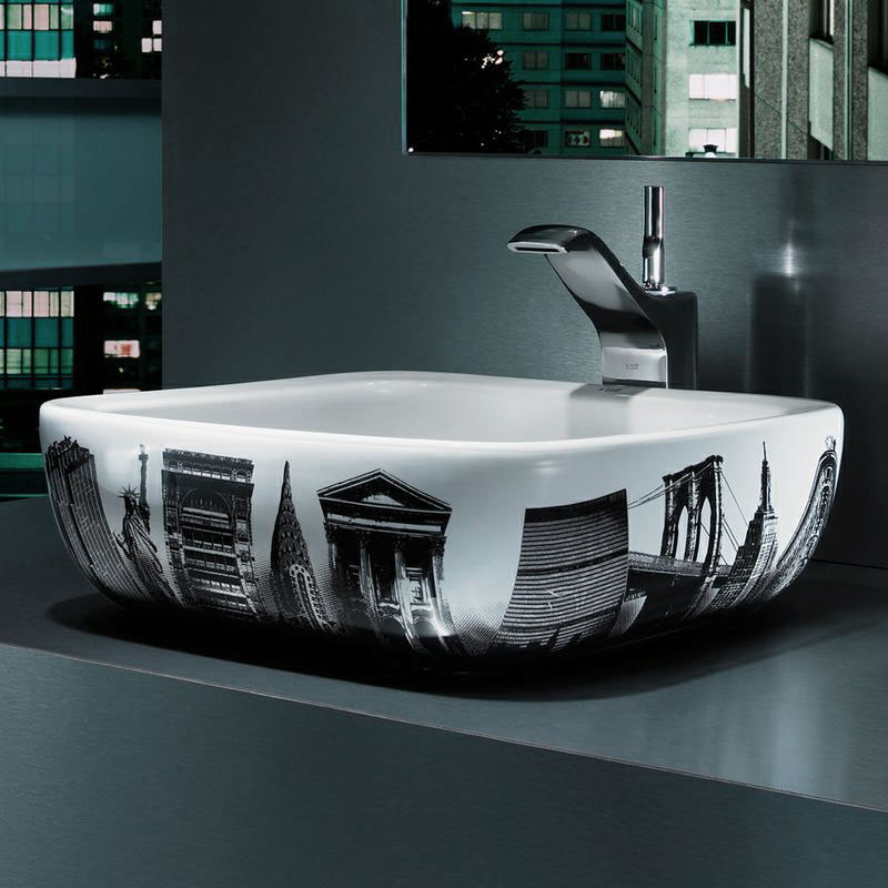 Absolutely unique bathroom sinks accept. The
