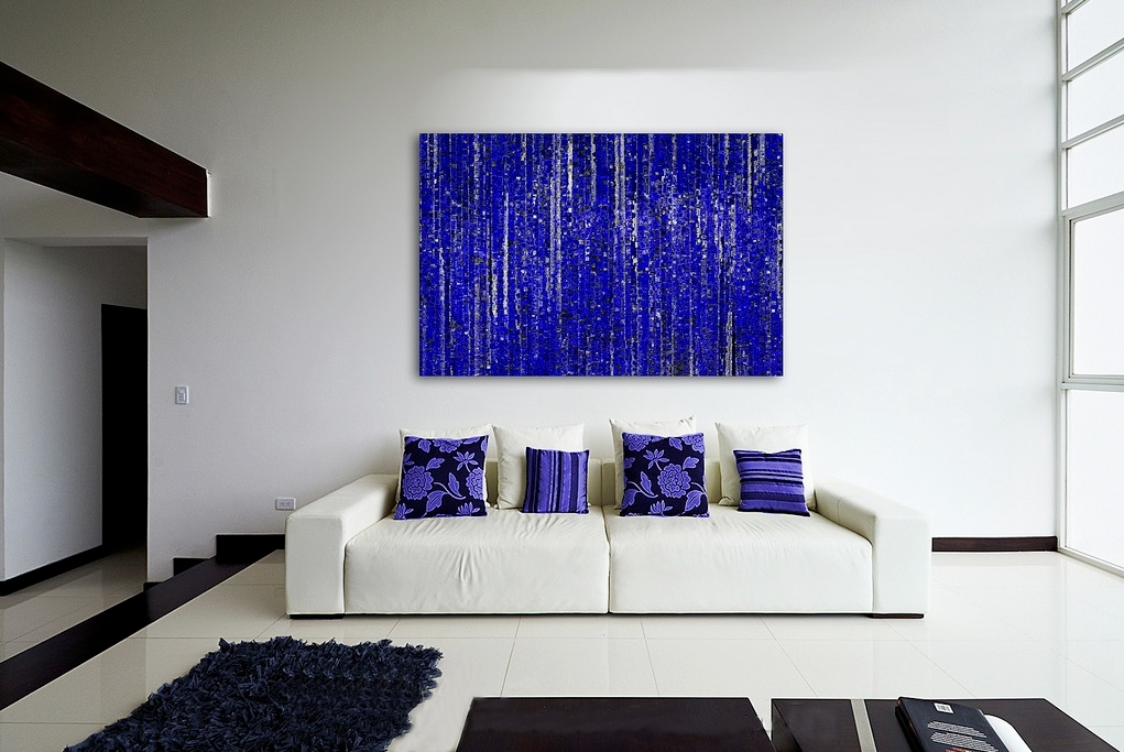 25 creative canvas wall art ideas for living room for Contemporary living room art