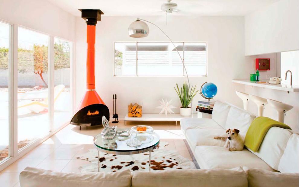Feng Shui Orange Chimney Living Room