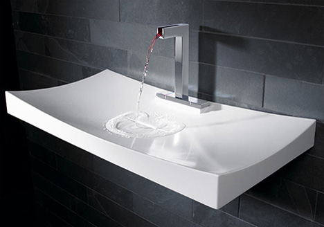 Unique Bathroom Sinks The Touch 360 Ripple Sink And Faucet