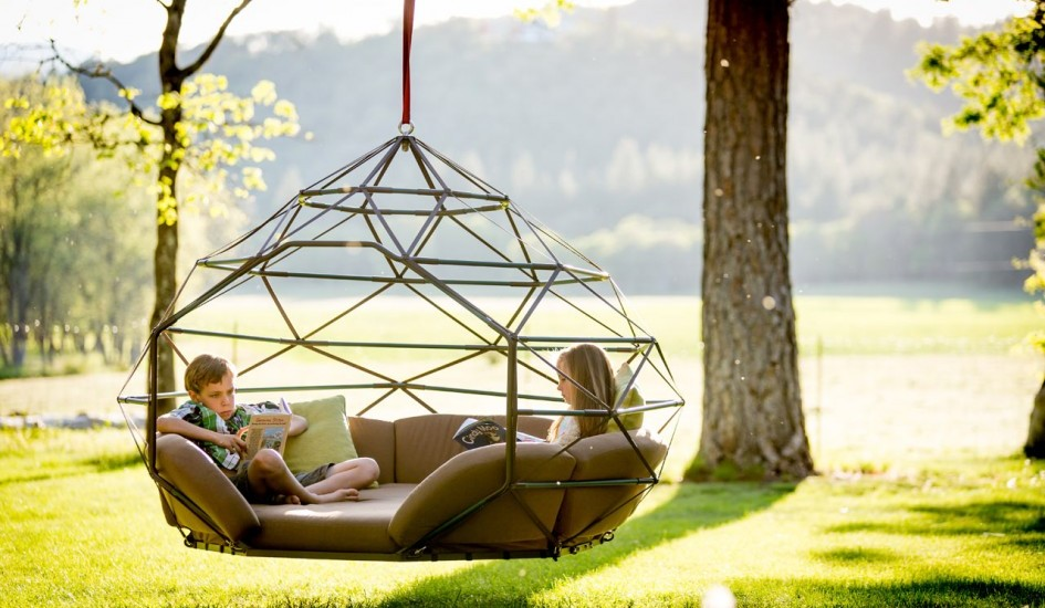 Geometric Outdoor Hanging Bed