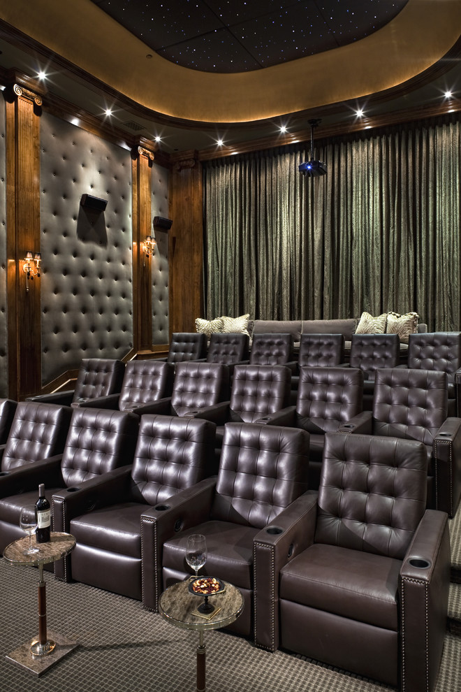 25 inspirational modern home movie theater design ideas. Black Bedroom Furniture Sets. Home Design Ideas