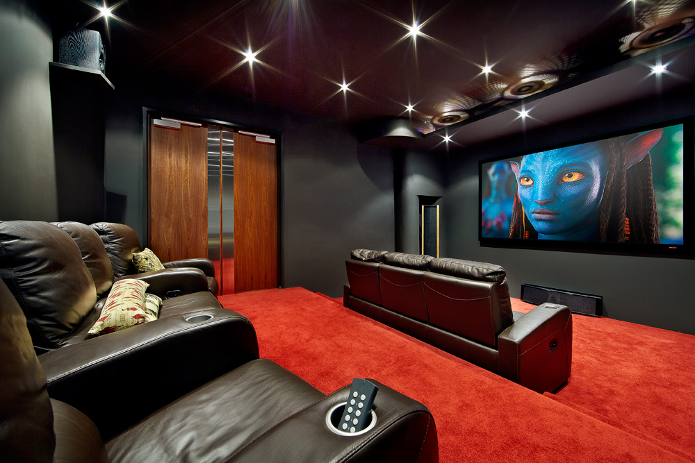25 inspirational modern home movie theater design ideas for Home theatre decorations