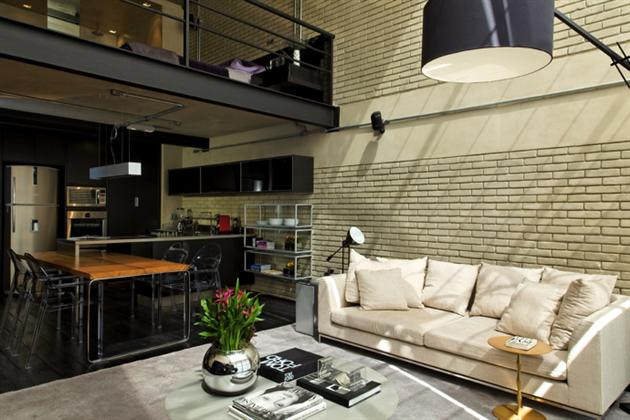 Industrial Bachelor Pad Loft in Brazil